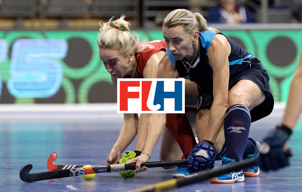 BERLIN - Indoor Hockey World Cup<br /> Women: Kazakhstan - Belarus<br /> foto: <br /> WORLDSPORTPICS COPYRIGHT FRANK UIJLENBROEK