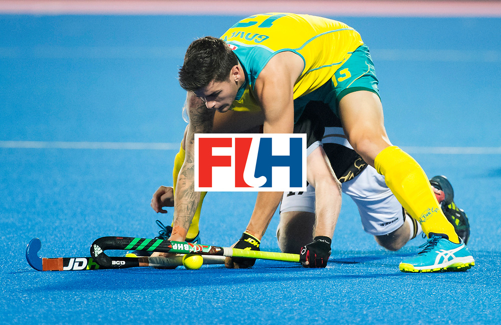 BHUBANESWAR - The Odisha Men's Hockey World League Final . Match ID 05 . Germany  v Australia . Blake Govers (Aus) with Christopher Ruehr (Ger) .  WORLDSPORTPICS COPYRIGHT  KOEN SUYK