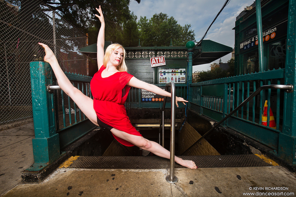 West 4th Street Subway Station- Dance As Art Photography Project featuring dancer Ayssa Ness