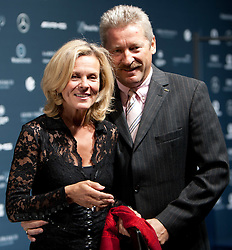 14.11.2011, Hotel Grand Tirolia, Kitzbuehel, AUT, Verleihung Laureus Medienpreis 2011, Roter Teppich im Bild Andrea L'arronge mit Ehemann Charly Reichenwallner // at the red carpet of the Laureus Media Award 2011 at the Grand Hotel Tirolia in Kitzbuehel, Austria on 14/11/2011. EXPA Pictures © 2011, PhotoCredit: EXPA/ Johann Groder