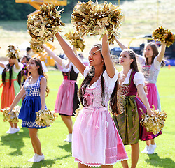 17.05.2015, Hohe Warte, Wien, AUT, BIG6, AFC Vienna Vikings vs Schwaebisch Hall Unicorns, im Bild Dance Seniors (AFC Vienna Vikings Cheerleader, Dance Seniors) // during the BIG6 game between AFC Vienna Vikings vs Schwaebisch Hall Unicorns at the Hohe Warte, Wien, Austria on 2015/05/17. EXPA Pictures © 2015, PhotoCredit: EXPA/ Thomas Haumer