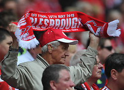 Middlesbrough Fan, Middlesbrough v Norwich, Sky Bet Championship, Play Off Final, Wembley Stadium, Monday  25th May 2015