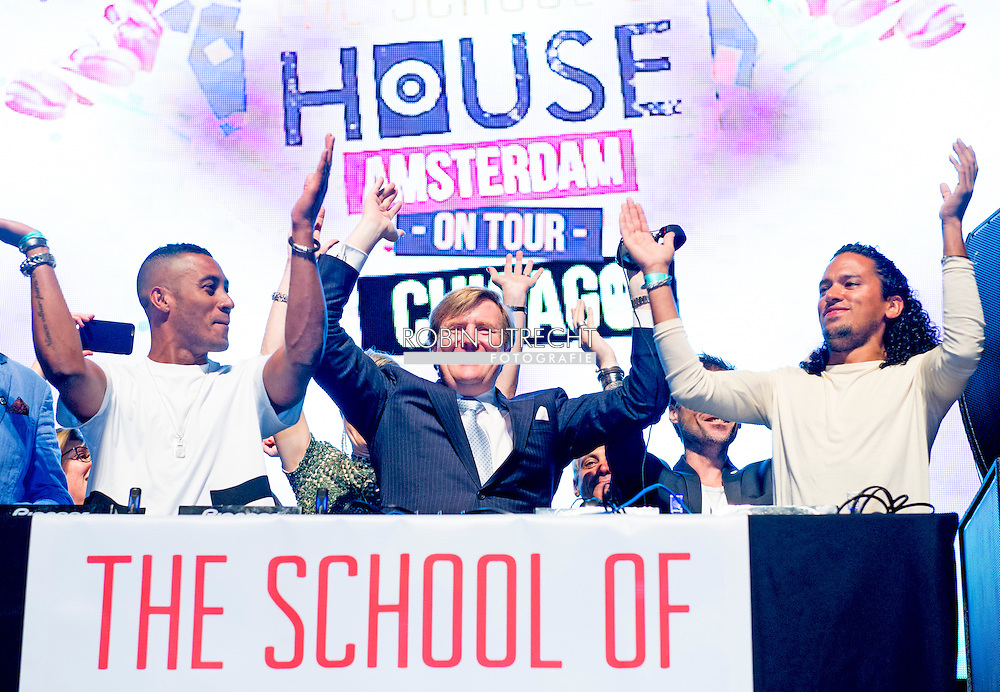 King Willem-Alexander and Queen Maxima of The Netherlands Visit to Master Class Electronic Dance Music (EDM) with dj 's sunnery james & ryan marciano in Chicago. United States, 2 June 2015.The King and Queen visit the United States during an 3 day official visit. COPYRIGHT ROBIN