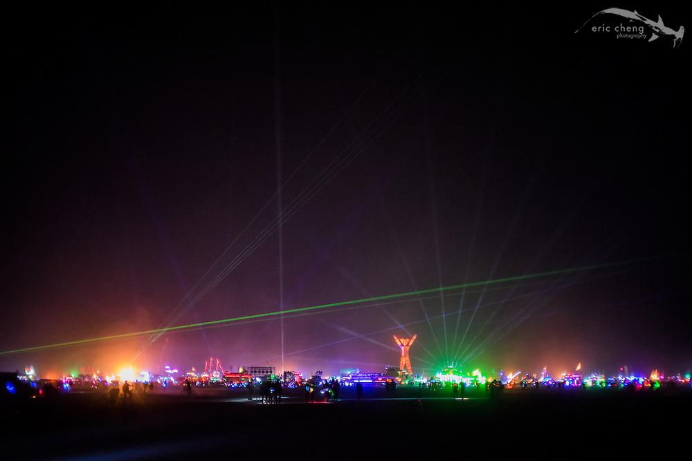 Burning Man is Disneyland for adults. Pre man burn. Burning Man 2014.