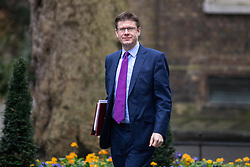 © Licensed to London News Pictures. 31/01/2017. London, UK. Secretary of State for Business, Energy and Industrial Strategy Greg Clark  arriving at Downing Street for a cabinet meeting this morning. Photo credit : Tom Nicholson/LNP