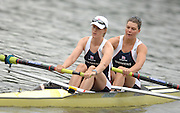 Amsterdam, HOLLAND, GBR W2- Bow, Natasha HOWARD and Alison KNOWLES, move way from the start in his heat of the Women's Pair ,at the 2007 FISA World Cup Rd 2 at the Bosbaan Regatta Rowing Course. [Date] [Mandatory Credit: Peter Spurrier/Intersport-images]..... , Rowing Course: Bosbaan Rowing Course, Amsterdam, NETHERLANDS