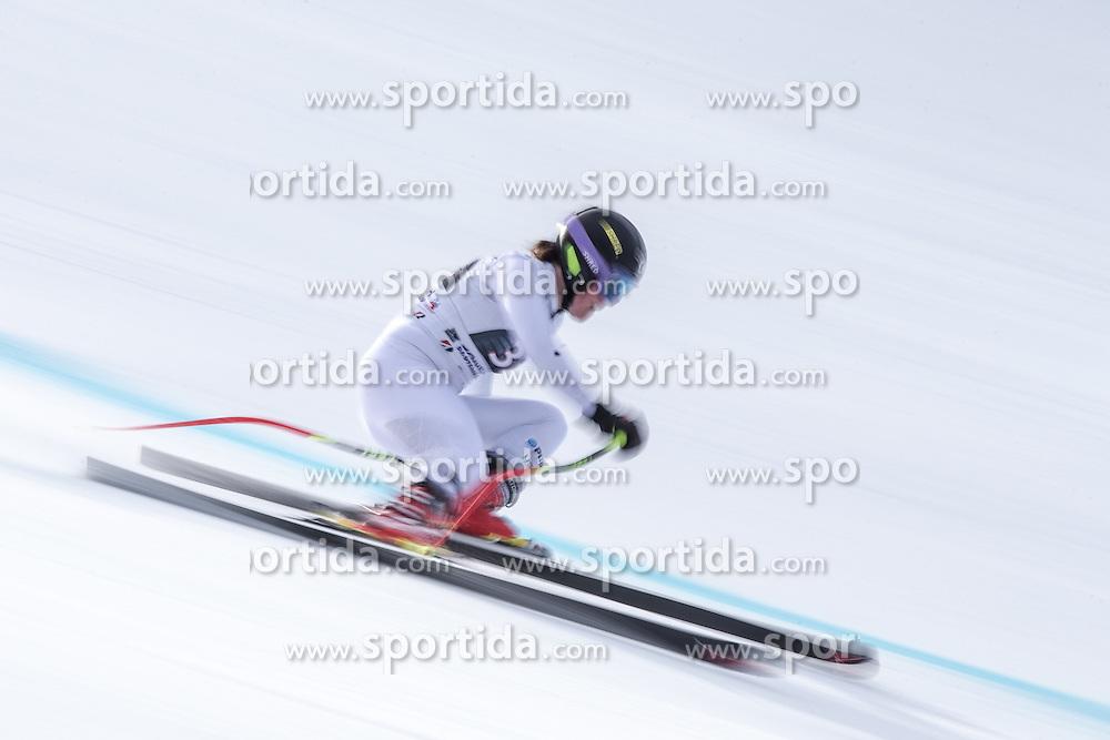 06.02.2016, Kandahar, Garmisch Partenkirchen, GER, FIS Weltcup Ski Alpin, Abfahrt, Damen, im Bild Breezy Johnson (USA) // Breezy Johnson of the USA competes during the ladies Downhill of Garmisch FIS Ski Alpine World Cup at the Kandahar course in Garmisch Partenkirchen, Germany on 2016/02/06. EXPA Pictures © 2016, PhotoCredit: EXPA/ Johann Groder
