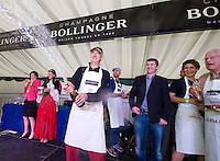 Xavier Caille representing Belgium who is noww the World Champion Oyster Opener he won best time and best presentation to win the award at the 57th Galway International  Oyster Festival. Photo:Andrew Downes.