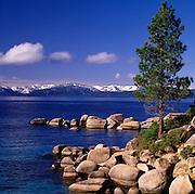 Lake Tahoe Landscape Shoreline Rocks