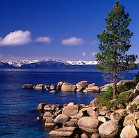 Lake Tahoe Landscape Shoreline Rocks