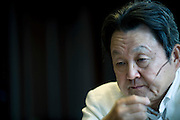 Yuzo Yagi, president and CEO of Yagi Tsusho Ltd., speaks during an interview at his company's offices in Tokyo, Japan on 28 July, 2011. In June, Yagi received an honorary OBE in recognition of his contribution to business relations between Japan and the UK..Photographer: Robert Gilhooly
