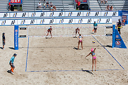 Isabelle Forrer .and Anouk Verge-Depre of Switzerland vs Sara Sakovic and Tamara Borko of Slovenia at A1 Beach Volleyball Grand Slam presented by ERGO tournament of Swatch FIVB World Tour 2012, on July 17, 2012 in Klagenfurt, Austria. (Photo by Matic Klansek Velej / Sportida)