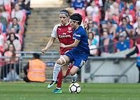 Football - SSE Women's FA Cup Final - Arsenal Women vs. Chelsea Ladies<br /> <br /> Ji So-yun (Chelsea Ladies FC) turns away from Dominique Janssen (Arsenal Women FC) at Wembley Stadium.<br /> <br /> COLORSPORT/DANIEL BEARHAM