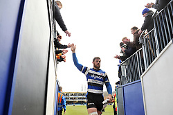 Dave Attwood of Bath Rugby leaves the field after the match - Photo mandatory by-line: Patrick Khachfe/JMP - Mobile: 07966 386802 25/01/2015 - SPORT - RUGBY UNION - Bath - The Recreation Ground - Bath Rugby v Glasgow Warriors - European Rugby Champions Cup