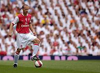 Photo: Daniel Hambury.<br />Arsenal v Ajax. Dennis Bergkamp Testimonial. 22/07/2006.<br />Arsenal's Dennis Bergkamp with the ball.