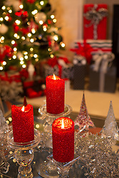 United States, Washington, Bellevue, Chistmas holiday decorations (interior)