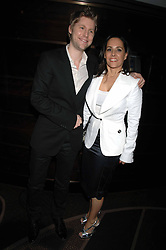Designer CHRISTOPHER BAILEY and SARAH MANLEY at the launch of the 4th Fashion Fringe - a search to recruit the hottest, undiscovered fashion desugn talent in the UK and Ireland, held at The Bar at The Dorchester, Park Lane, London on 13th March 2007.<br /><br />NON EXCLUSIVE - WORLD RIGHTS