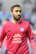 Peterborough United midfielder Erhun Oztumer during the Sky Bet League 1 match between Coventry City and Peterborough United at the Ricoh Arena, Coventry, England on 31 October 2015. Photo by Alan Franklin.