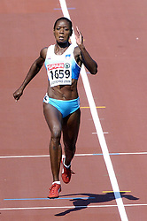 n/z.: Merlene Ottey (nr1659-Slowenia) podczas biegu na 100 m  podczas Mistrzostw Europy w lekkiej atletyce w Goeteborgu, Goeteborg , Szwecja , 08-08-2006 , fot.: Adam Nurkiewicz / mediasport..Merlene Ottey (nr1659-Slovenia) during qualifications 100 m woman during EAA European Athletics Championships in Goteborg. August 08, 2005 ; Gothenburg , Sweden ( Photo by Adam Nurkiewicz / mediasport )