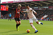 Chris Smalling (12) of Manchester United is put under presure by David Brooks (20) of AFC Bournemouth during the Premier League match between Bournemouth and Manchester United at the Vitality Stadium, Bournemouth, England on 3 November 2018.