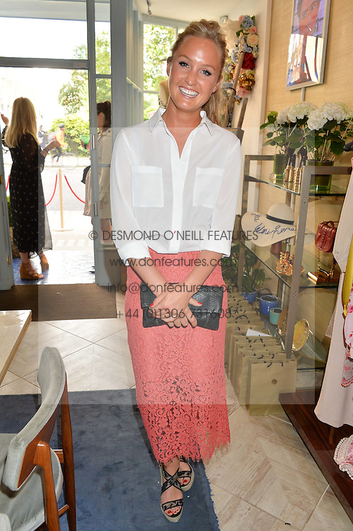LADY MELISSA PERCY at the launch of AYA jewellery by Chelsy Davy held at Baar & Bass, 336 Kings Road, London on 21st June 2016.