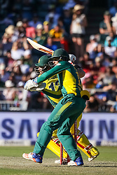 Matthew Wade bats for Australia with Quinton De Kock Wicky for SA Australia during the 2nd ODI match between South Africa and Australia held at The Wanderers Stadium in Johannesburg, Gauteng, South Africa on the 2nd October  2016<br /> <br /> Photo by Dominic Barnardt/ RealTime Images