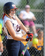 Central Bucks East's Nicole Tracy #21 hits a line drive in the third inning against Downingtown West Wednesday May 25, 2016 at Central Bucks East in Buckingham, Pennsylvania. (Photo by William Thomas Cain)