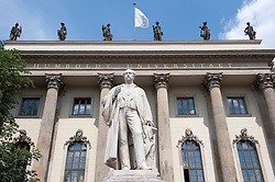 Wilhelm von Homboldt Statue outside Humboldt University in Berlin Germany
