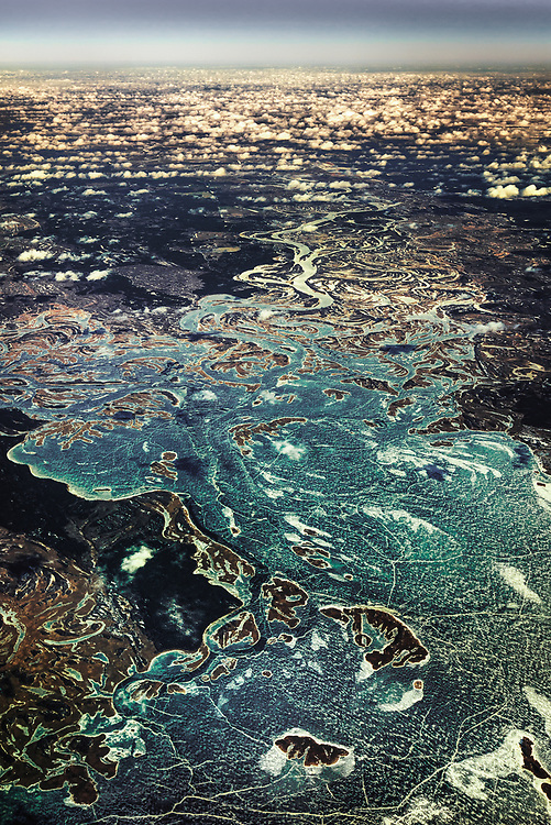 Aerial View of Dnieper River, Ukraine
