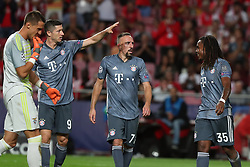 September 19, 2018 - Lisbon, Portugal - Bayern Munich's midfielder Renato Sanches from Portugal  (35) celebrates with teammates after scoring during the UEFA Champions League Group E football match SL Benfica vs Bayern Munich at the Luz stadium in Lisbon, Portugal on September 19, 2018. (Credit Image: © Pedro Fiuza/ZUMA Wire)