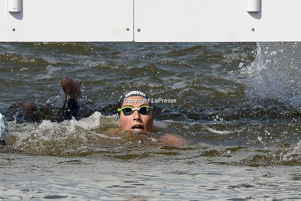 Foto Fabio Ferrari - LaPresse<br /> 28/07/2015 Kazan ( Russia ) <br /> Sport <br /> 16 Campionati del mondo FINA 2015 - Open Water - 10km Donne.<br /> nella foto: Rachele Bruni(Ita)<br /> <br /> Photo Fabio Ferrari - LaPresse<br /> 28 July 2015 Kazan ( Russian ) <br /> Sport<br /> 16th FINA World Championship 2015 - Open Water - 10km Women.<br /> in the picture:Rachele Bruni (Ita)