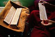 Old nun Practice in her room, Geden Choeling Nunnery, Dharamsala