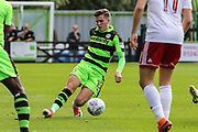 Forest Green Rovers Charlie Cooper(15) on the ball during the EFL Sky Bet League 2 match between Forest Green Rovers and Accrington Stanley at the New Lawn, Forest Green, United Kingdom on 30 September 2017. Photo by Shane Healey.