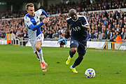 Southend United Mark -Antonie Fortune (14) running past Bristol Rovers Chris Lines (14) first half during the EFL Sky Bet League 1 match between Bristol Rovers and Southend United at the Memorial Stadium, Bristol, England on 11 March 2017. Photo by Gary Learmonth.