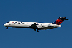 Boeing 717-200 (N919AT) operated by Delta Air Lines on approach to San Francisco International Airport (KSFO), San Francisco, California, United States of America