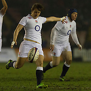 Katy McLean in action, England Women v Scotland Women in the 6 Nations at Northern Echo Arena, Darlington, England, on 13th March 2015
