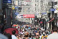 Turkey. Istanbul. istiklal avenue, main street of the modern city / Istamboul Avenue Istiklal