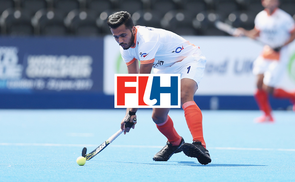 LONDON, ENGLAND - JUNE 15:  Harmanpreet Singh of India  during the Hero Hockey World League Semi Final match between India and Scotland at Lee Valley Hockey and Tennis Centre on June 15, 2017 in London, England.  (Photo by Alex Morton/Getty Images)