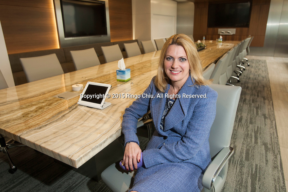 Carla Christofferson at the Century City office of Aecom Technology Corp. (Photo by Ringo Chiu)
