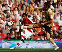 Photo: Richard Lane/Richard Lane Photography. Arsenal v Juventus. Emirates Cup. 02/08/2008. Arsenal's Theo Walcott crosses.
