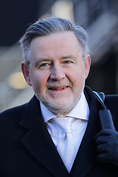 © Licensed to London News Pictures. 30/01/2019. London, UK. Shadow Secretary of State for International Trade BARRY GARDINER on College Green after giving media interviews. Theresa May has said she will return to Brussels to seek further concessions from the EU. Photo credit: Rob Pinney/LNP