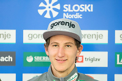 Nejc Dezman during official presentation of the outfits of the Slovenian Ski Teams before new season 2015/16, on October 6, 2015 in Kulinarika Jezersek, Sora, Slovenia. Photo by Vid Ponikvar / Sportida