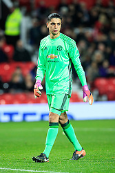 © Licensed to London News Pictures . 12/12/2016 . Manchester , UK . MUFC's ILIAS MOUTHA-SEBTAOUI . Manchester United vs Southampton FA Youth Cup Third Round match at Old Trafford . Photo credit : Joel Goodman/LNP