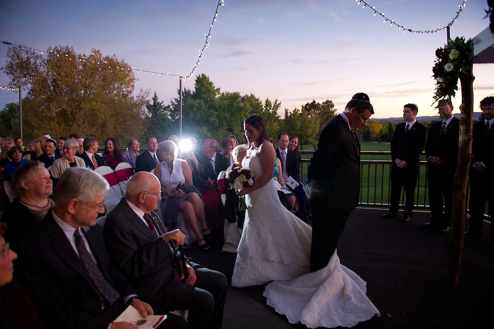 Julia and Matt Shaffer are married at Boulder Country Club in Boulder, Saturday, Oct. 15, 2011.