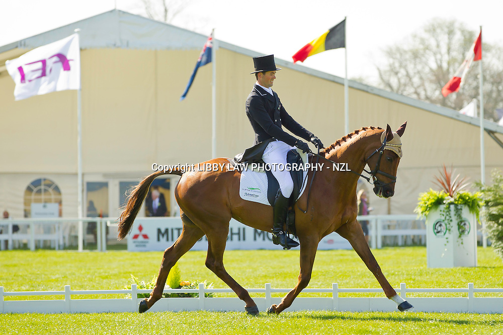 NZL-Jonathan Paget (CLIFTON LUSH) FRIDAY DRESSAGE: 48.2pts - 2013 GBR-Mitsubishi Motors Badminton International Horse Trail CCI4*: FRIDAY DRESSAGE: Interim: =11TH CREDIT: Libby Law - COPYRIGHT: LIBBY LAW PHOTOGRAPHY - NZL (Friday 3 May 2013)