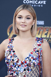 Olivia Holt at the premiere of Disney and Marvel's 'Avengers: Infinity War' held at the El Capitan Theatre in Hollywood, USA on April 23, 2018.
