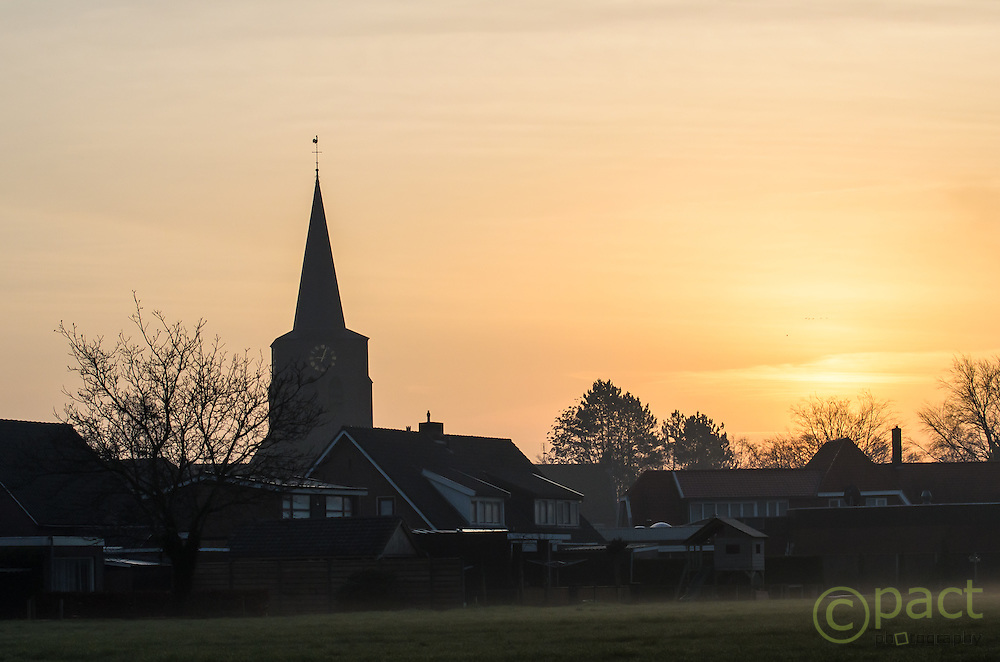 Sunrise over Beckum, Twente, the Netherlands