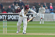 George Bartlett of Somerset batting during the Specsavers County Champ Div 1 match between Somerset County Cricket Club and Kent County Cricket Club at the Cooper Associates County Ground, Taunton, United Kingdom on 7 April 2019.