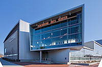 Building Photography in Maryland by Commercial Photographics Exterior Image of Performing Arts Center at Montgomery College, Bethesda, MD
