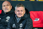 Manchester United Manager Ole Gunnar Solskjaer during the Europa League match between AZ Alkmaar and Manchester United at Kyocera  Stadion, The Hague, Netherlands on 3 October 2019.